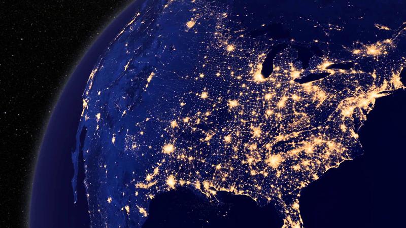 آلودگی نوری در آسمان شب