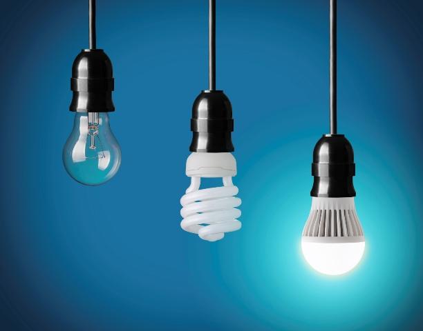 لامپ کم مصرف در مقایسه با لامپ های LED